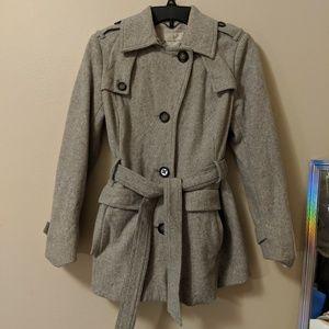 Banana Republic Grey Wool Pea Coat (XS)